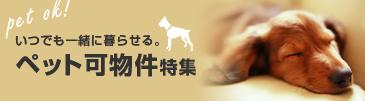 ペット飼育可物件特集